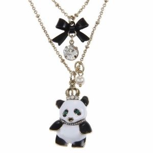 Betsey Johnson Panda Necklace